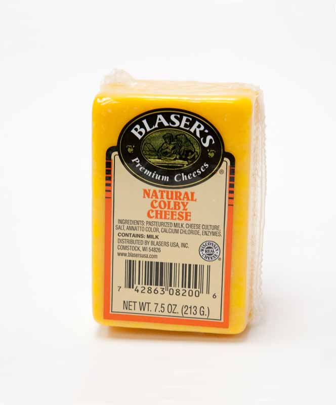 7 5 oz Blaser Colby Cheese