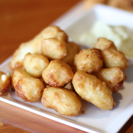 2.5 lb. Beer Battered White Cheddar Cheese Curds